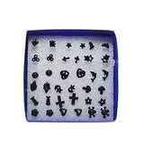 18 Pairs Set Stud Earrings Heart Cross Moon Star Non-Metal Acrylic Studs - Pendants and Charms