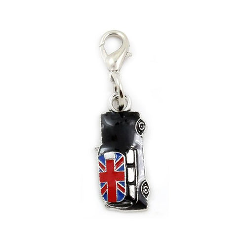 jewelleryjoy Union Jack Sterling Silver Dangle Bead Charm Pendant European Charm Bracelets in Organza Gift Bag