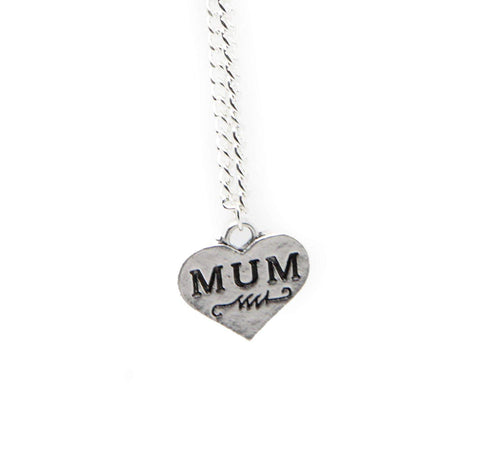 Mum Mother Daughter Son Family Best Friend Broken Love Heart Pendant Chain Necklace Jewellery Silver Tone Friendship Necklace for 201