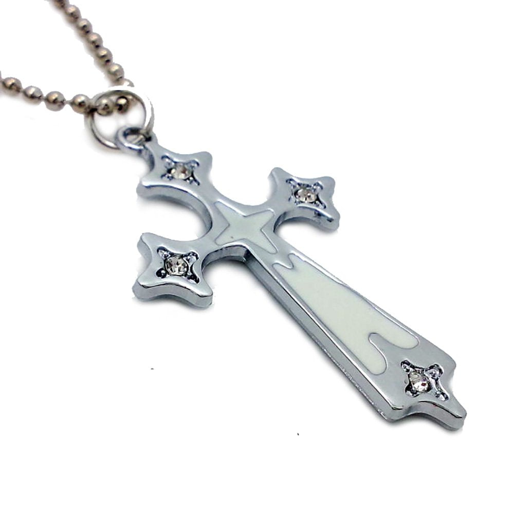 Cross stainless Steel pendant Necklace in Organza Gift Bag - Pendants and Charms