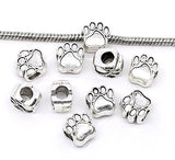 Cat Bear Paw Beads Fit Charm Bracelet Big Hole
