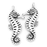 Charm Pendants Sea Horse Silver Tone 22mmx9mm - Pendants and Charms