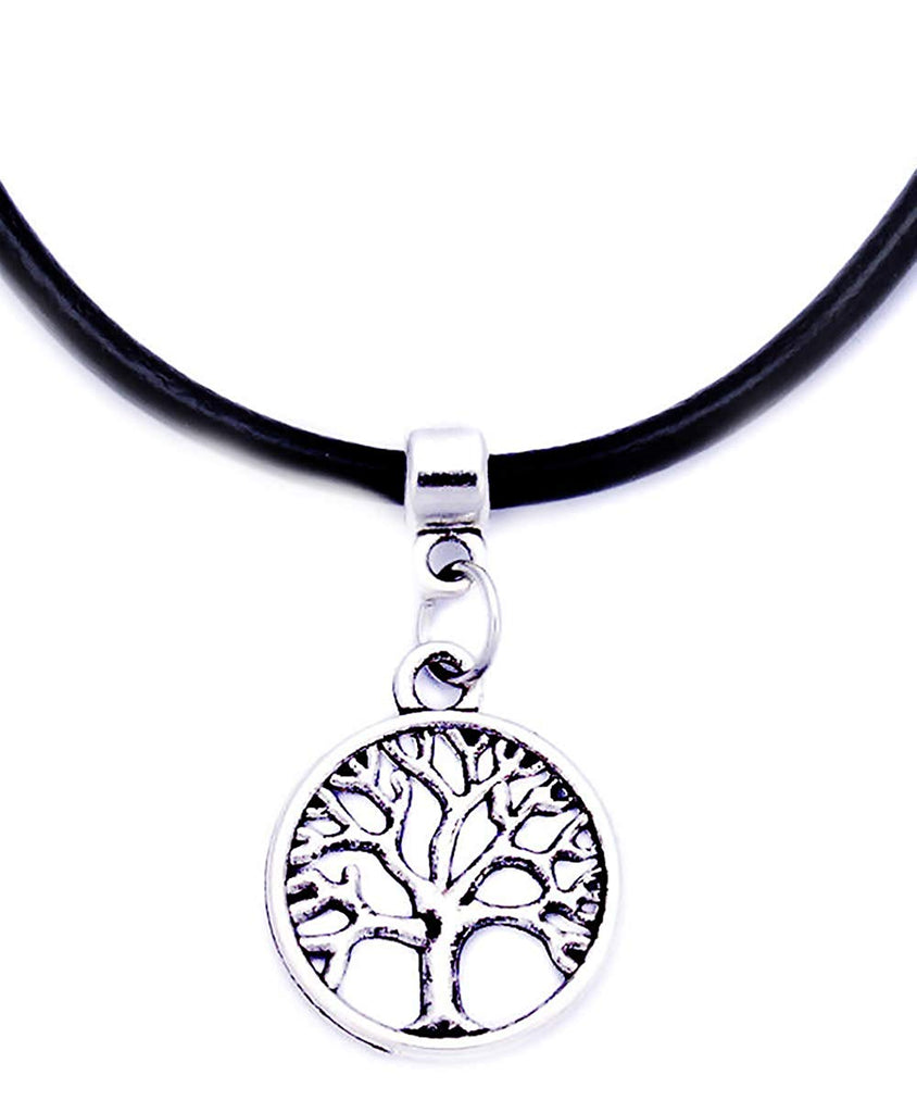 jewelleryjoy Tree of Life Symbol Cord Necklace Pendant Charm in an Organza Gift Bag