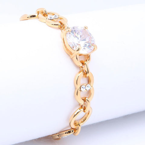 GLITTERING GOLD PLATED CIRCLES BRACELET 480121 - Pendants and Charms