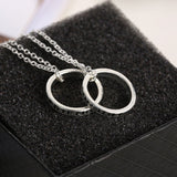 2pcs Friendship Necklace Rings Gold Tone FRIENDS FOREVER - Pendants and Charms