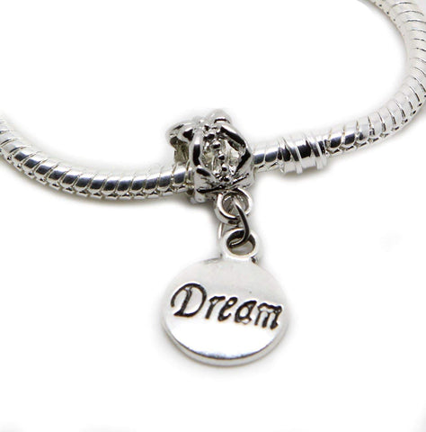 Dream Gift Dangle Bead for Silver European Charm Bracelets Clip On Charm Chain Link Bracelet Meaning Charms