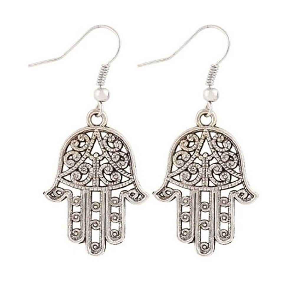 Mom Flamingo Bird Tropical Gold Silver Hamsa Drop Dangle Fashion Earrings Rhinestone