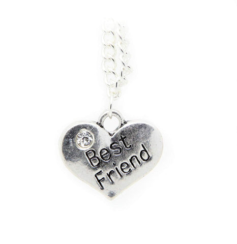 2 Piece Friendship Necklace Two Hearts