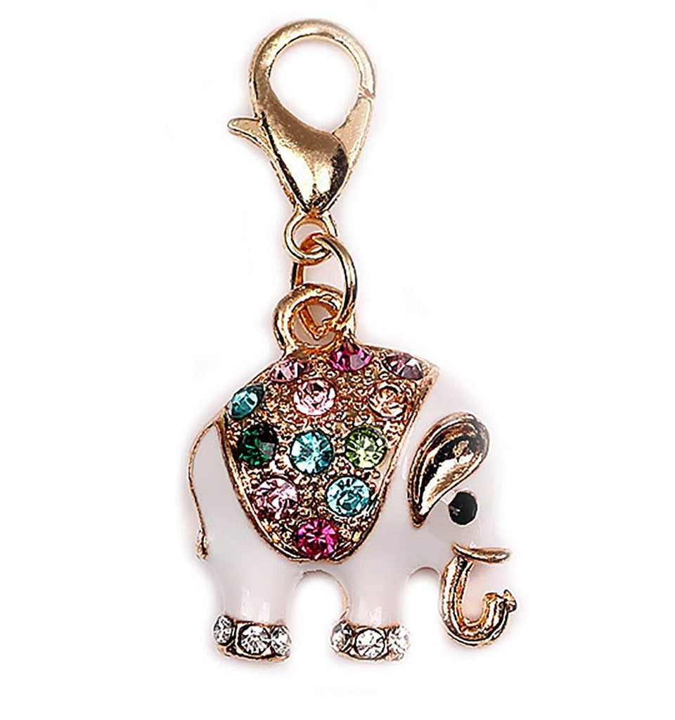 Clip On Elephant Bead for European Bracelet Charm Pendants in Organza Gift Bag