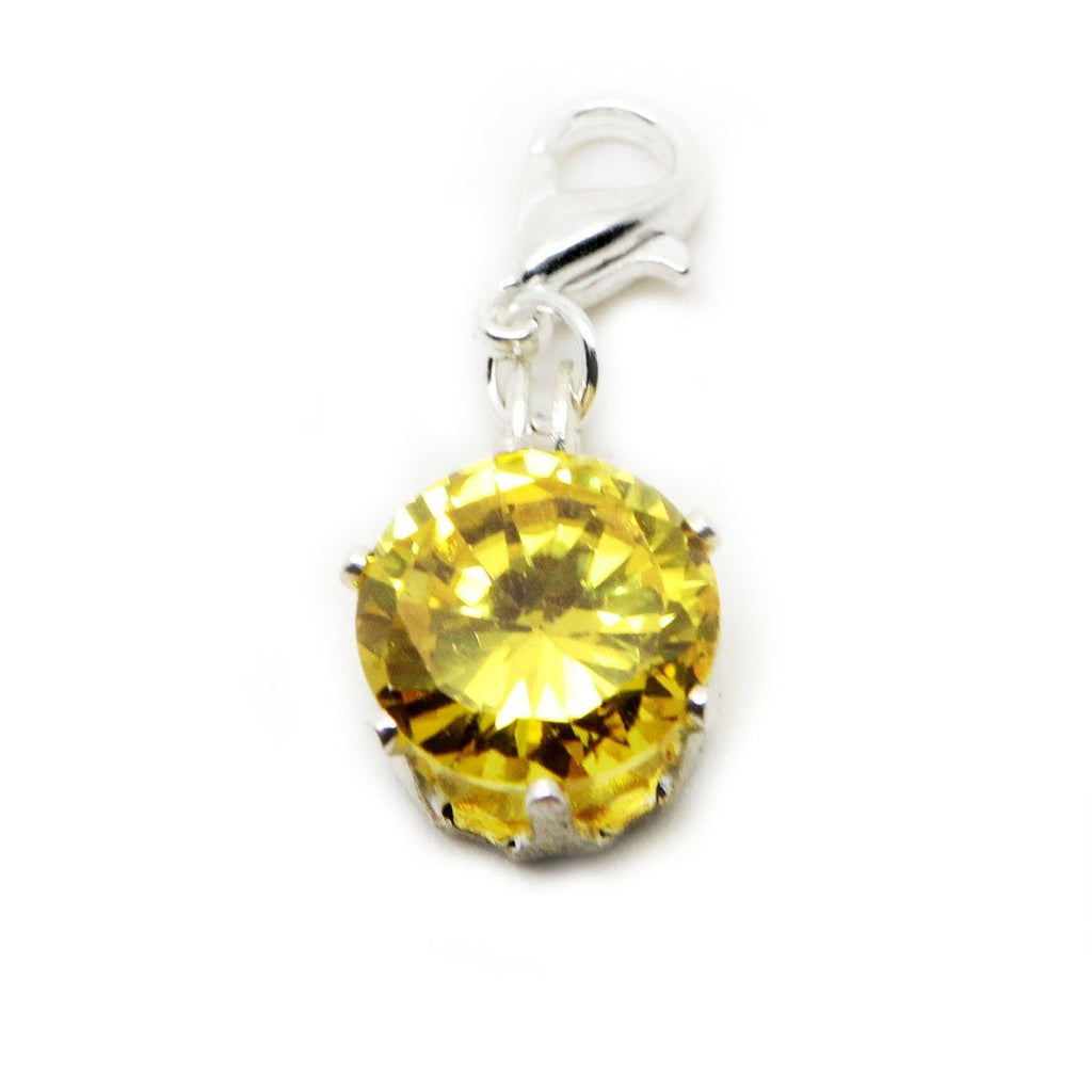 Large faceted crystal sparkly rhinestone lab zircon clip on  charm pendant  bead - Pendants and Charms