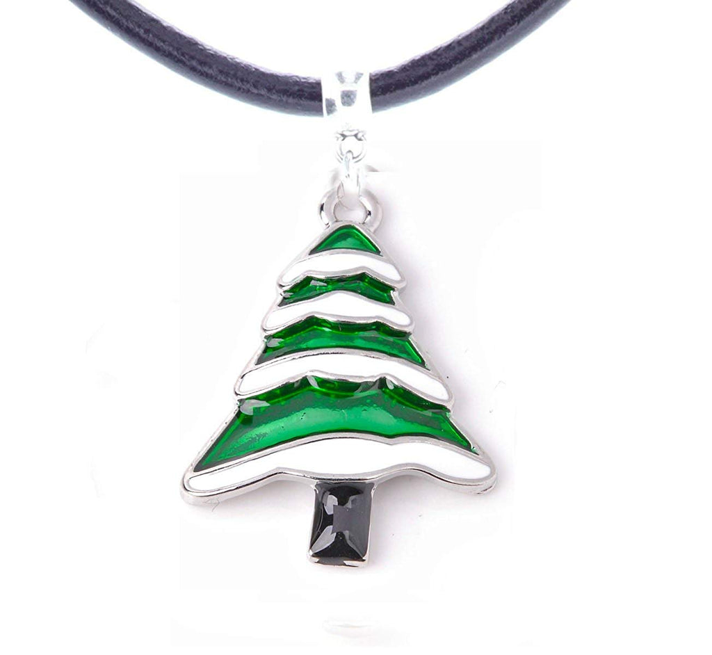 Christmas Tree Woman's Necklace in Organza Gift Bag