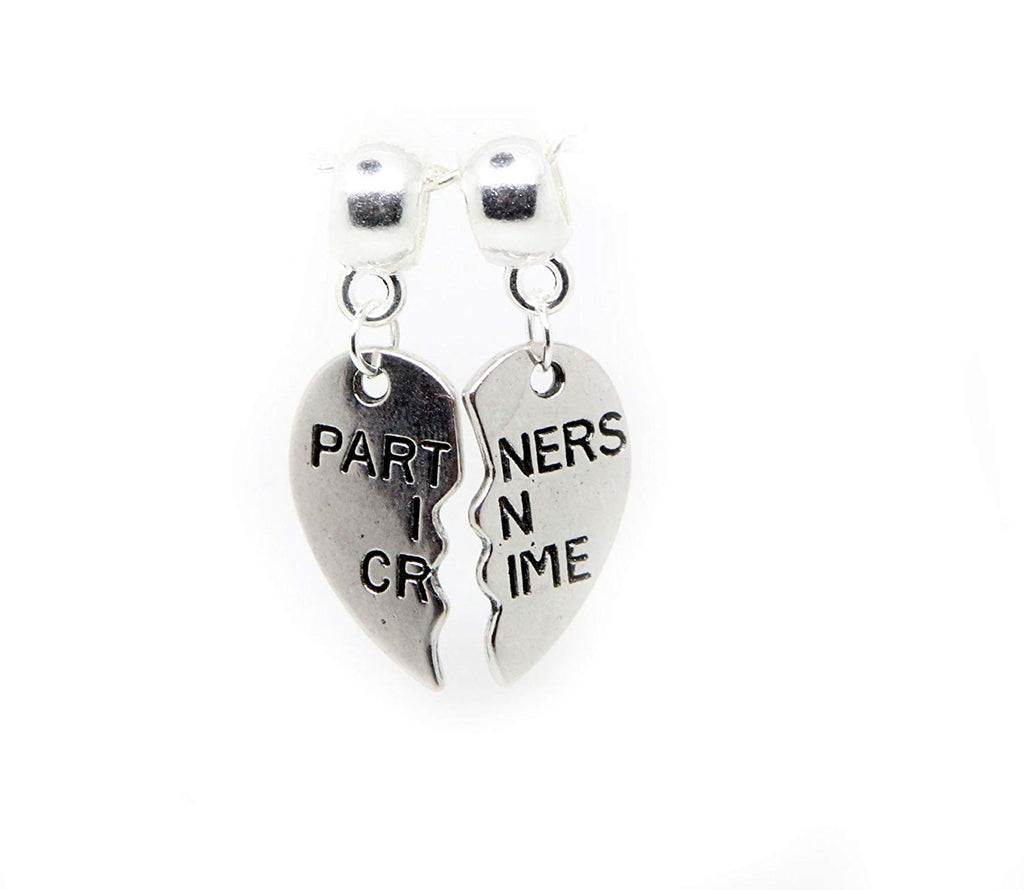jewelleryjoy Partners in Crime Dangle Bead for European Charm Bracelets Clip On Charm Chain Link Bracelet Memory Locket