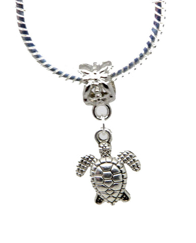 jewelleryjoy Turtle Animal Gift Dangle Bead for Silver European Charm Bracelets Clip On Charm Chain Link Bracelet Meaning Charms