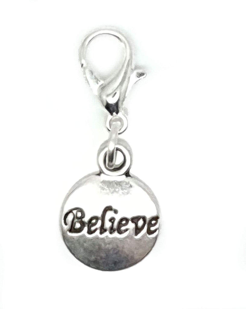 Believe Circle Clip On Charm