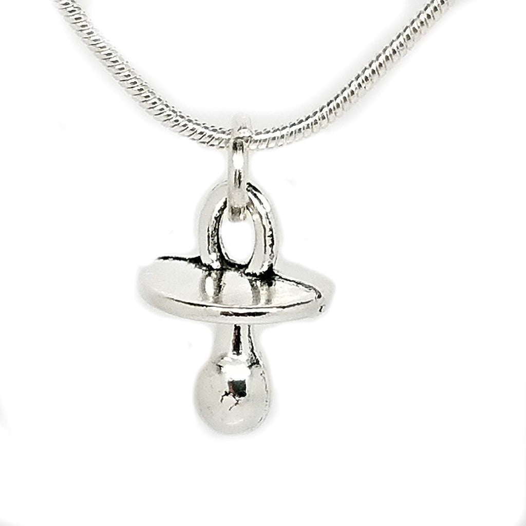 jewelleryjoy New Baby Baptising Bottle Love Newborn Memorable Gift Necklace in an Organza Gift Bag Sterling Silver Chain