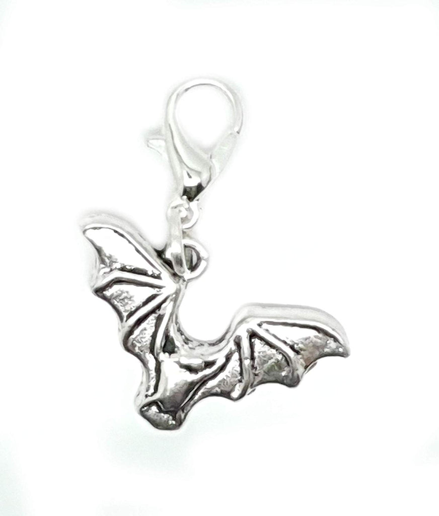 Clip On Bat Halloween Animal European Bracelet Lobster Clasp Charm Pendants in Organza Gift Bag