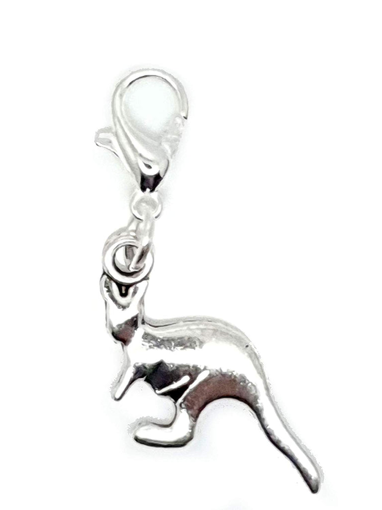 Clip On Kangaroo Australia Animal European Bracelet Lobster Clasp Charm Pendants in Organza Gift Bag