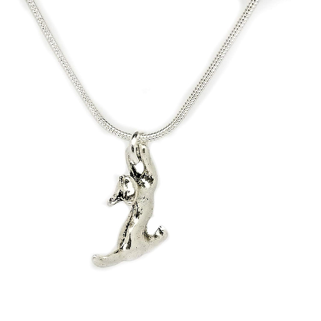 jewelleryjoy Necklace Animal Bird Cat Turtle in an Organza Gift Bag Sterling Silver Chain (Silver Cat)