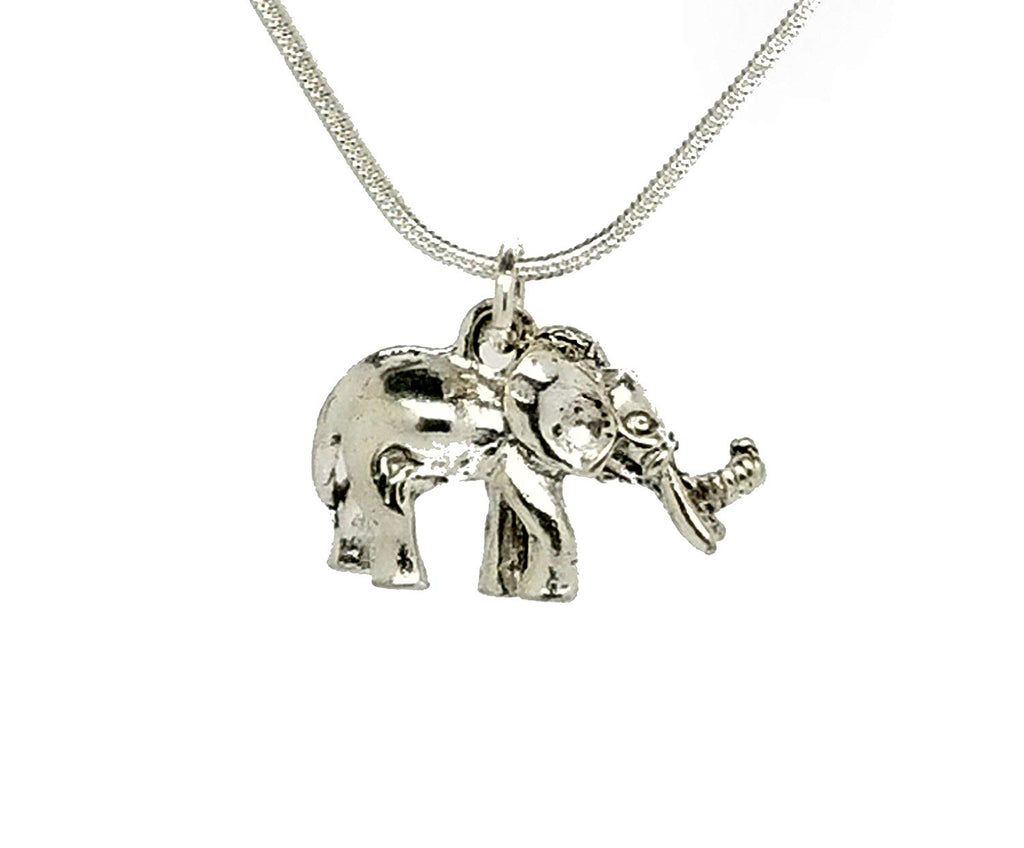 Elephant Parrot Bird Cat Turtle Necklace Sterling Silver Chain Enamel Diamante Pendant in an Organza Gift Bag