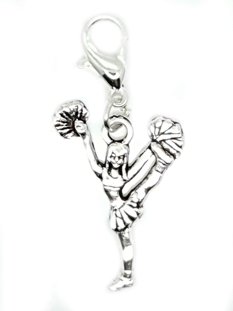 Cheerleader Girl Gymnastics Dancer Lobster Clasp Clip On Charms Pendant in Organza Charm Necklace - Pendants and Charms