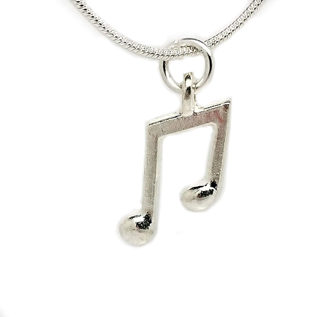 jewelleryjoy Music Violin Microphone Piano Necklace in an Organza Gift Bag Sterling Silver Chain