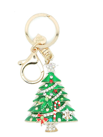 Christmas Tree Key Ring Key Chain Charm Pendant Accessory Keyring - Pendants and Charms