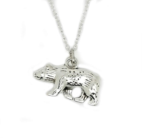 Bear Animal Charm Chain Necklace
