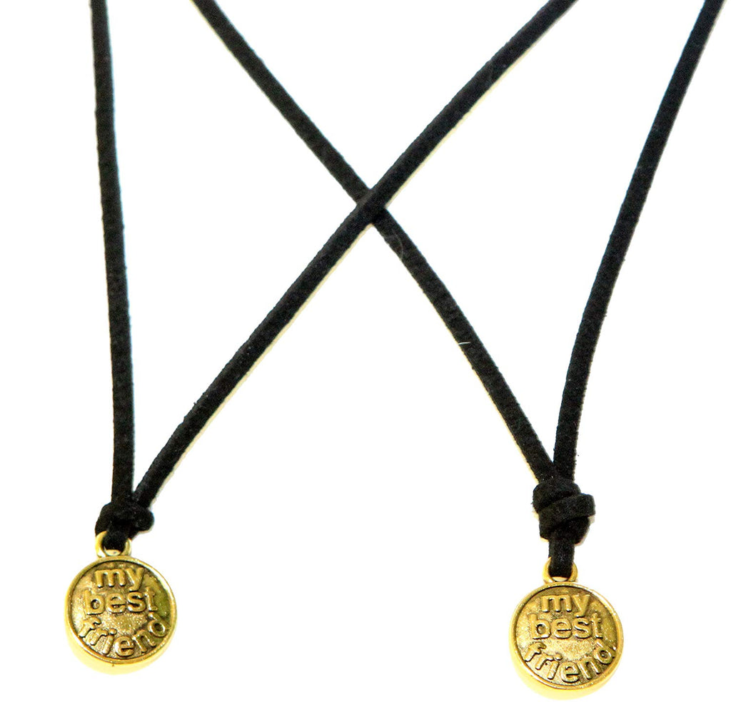2 Piece Circle My Best Friend  Pendant Necklace
