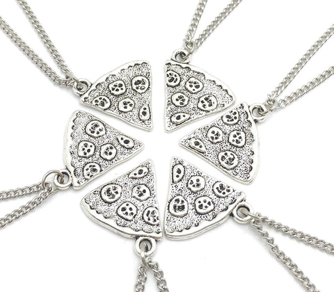 Best friend necklace silver plated 18inch and clip on earrings