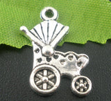 Baby Carriage Buggy Baby Charms Pendants - Pendants and Charms