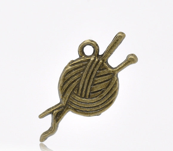 Bronze Tone Clew Charms Pendants 26x11mm findings - Pendants and Charms