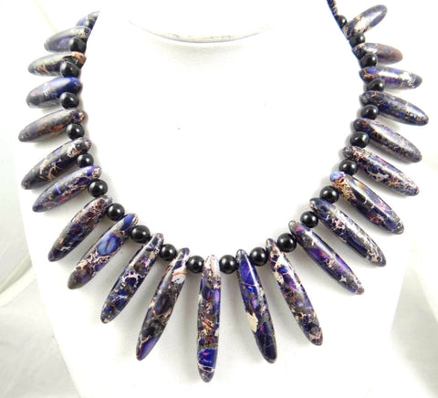 Beautiful purple Sea Sediment Handmade Gem Jewellery Necklace - Pendants and Charms