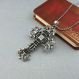Mens Womens Hot new Luck Stainless Steel Cross crucifix pendant Necklace P027 - Pendants and Charms