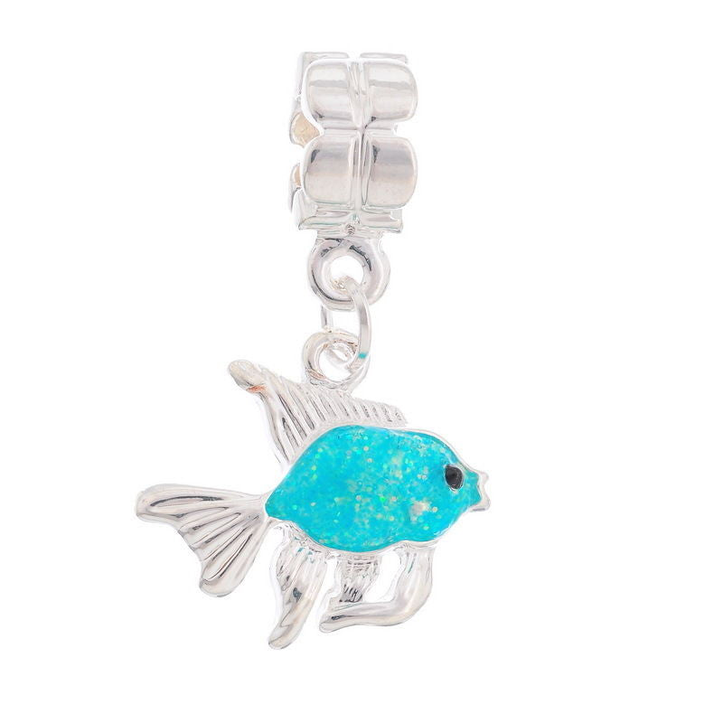 Enamel Goldfish Dangle Beads Fit Charm Bracelet - Pendants and Charms