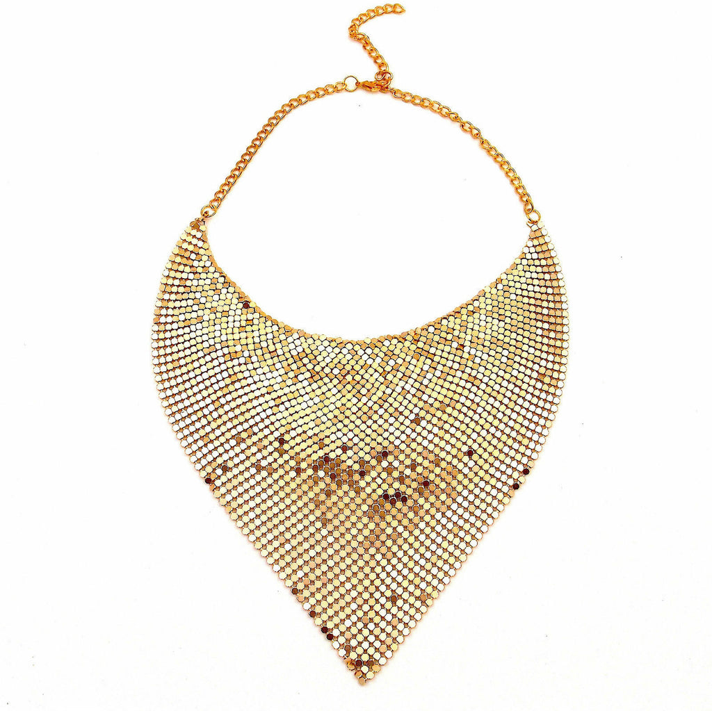 Statement Red  Gold Sharp Shiny Party Wear Hot Sexy Necklace - Pendants and Charms