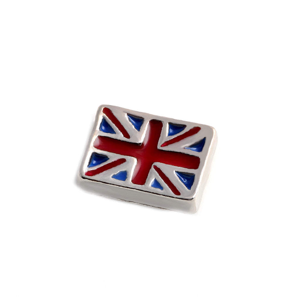 Floating charms union jack  and 5 birthstones locket Charm Bracelets necklace - Pendants and Charms