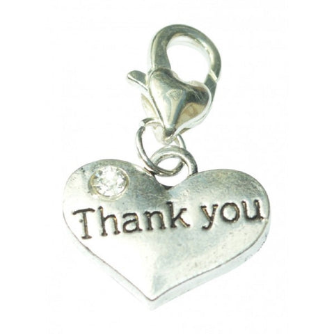 Thank You Message Charms silver tone meaning word charm pendants - Pendants and Charms