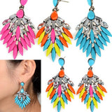 Fashion Charm Shiny Elegant Rhinestone Crystal drop flower stud earrings - Pendants and Charms