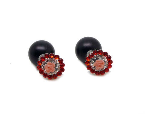 Celebrity Runway Double Pearl Beads Plug Earrings Ear Studs - Pendants and Charms