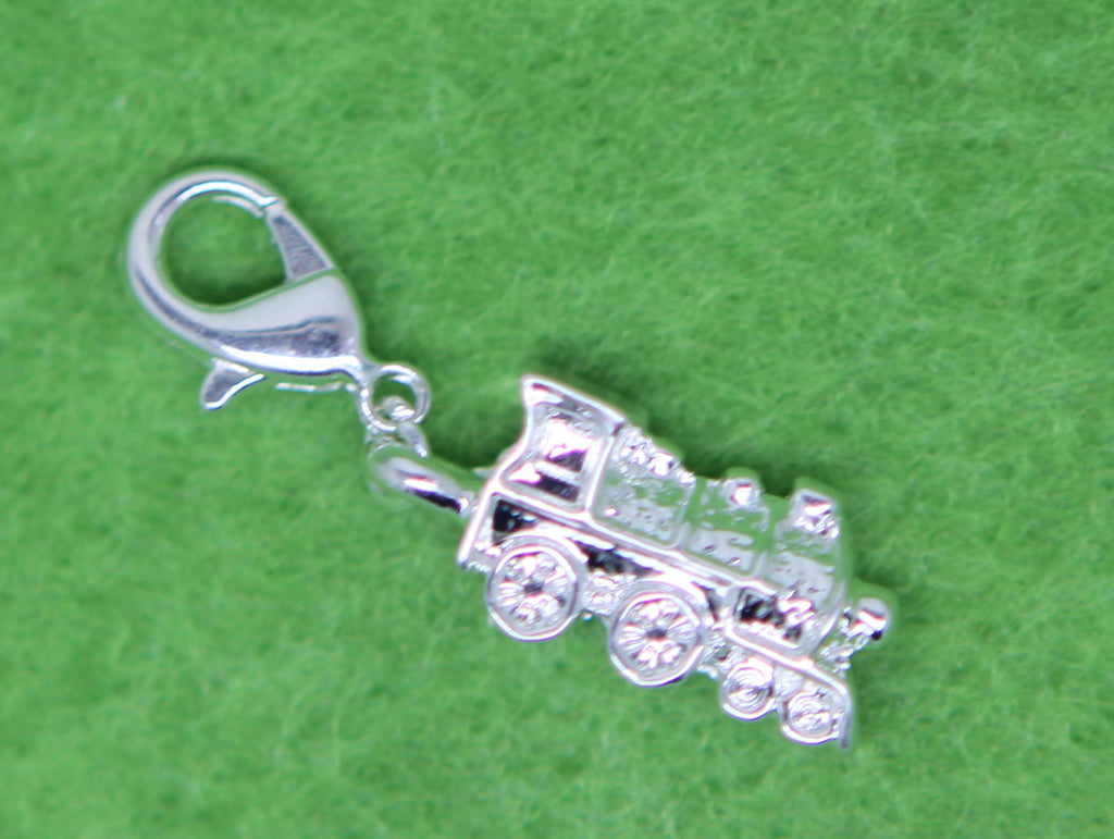Silver Plated  Clip on Bead for Charm Bracelets Charms necklace - Pendants and Charms