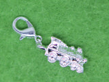 Train Silver Plated  Clip on Bead for Charm Bracelets Charms necklace - Pendants and Charms