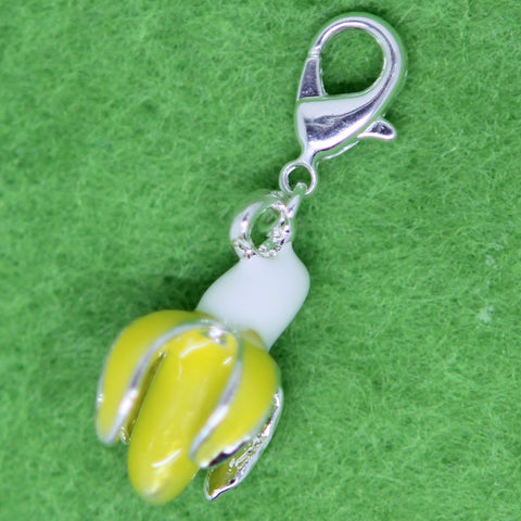 Banana Silver Plated  Clip on Bead for Charm Bracelets Charms necklace - Pendants and Charms