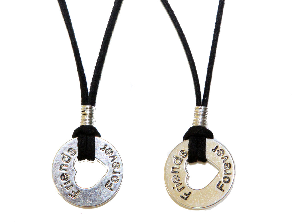 Friends Forever silver necklace for 2 - Pendants and Charms