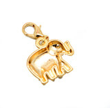 Elephant gold clip on Bead for Charm Bracelets Charms necklace - Pendants and Charms