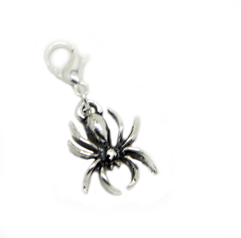 Silver tone spider clip on Bead for European Bracelet Charm Bracelets Charms pendants … - Pendants and Charms