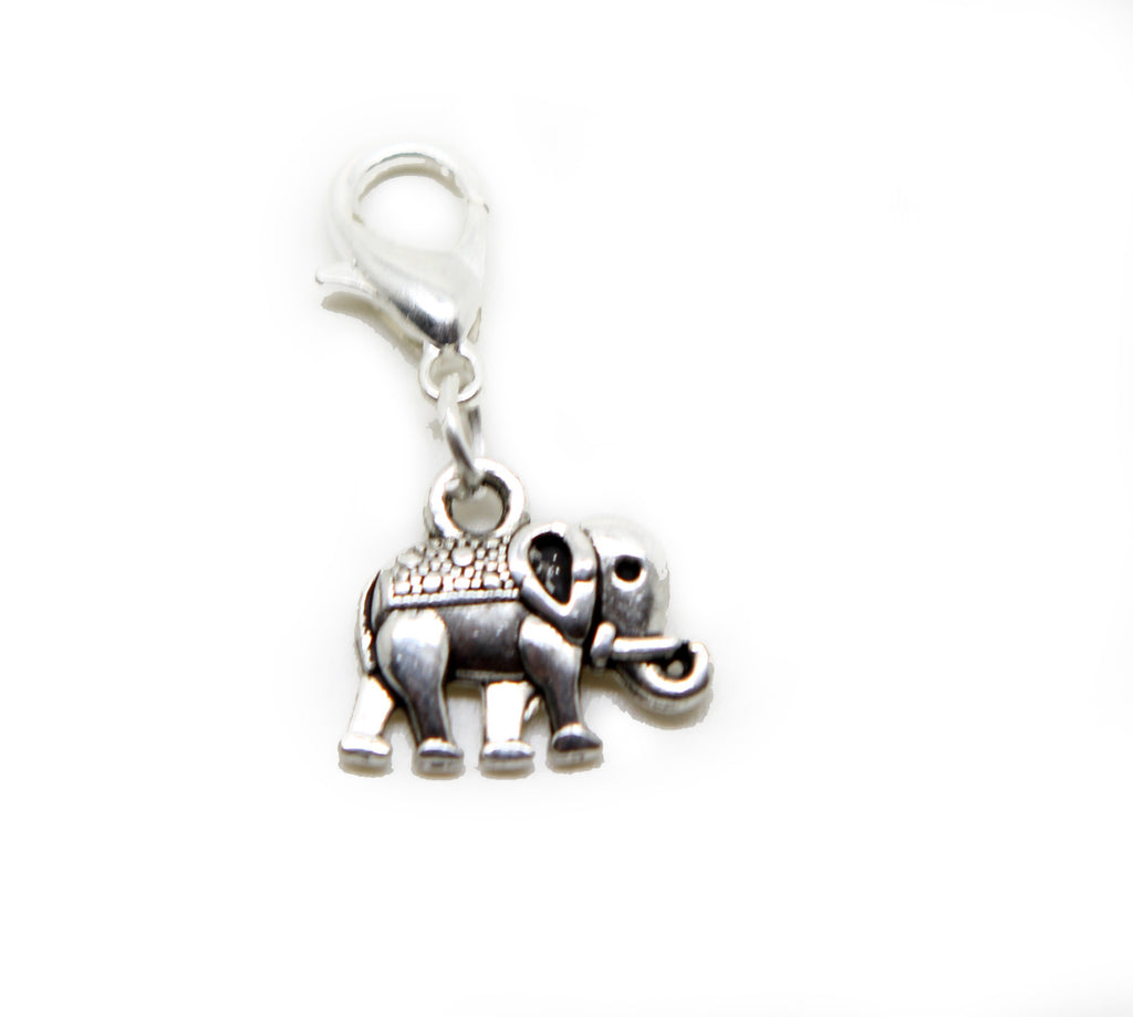 Silver tone elephant clip on Bead for European Bracelet Charm Bracelets Charms pendants … - Pendants and Charms