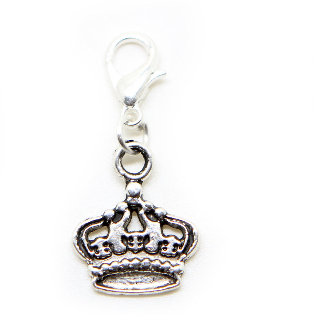 Crown Silver tone clip on Bead for European Bracelet Charm Bracelets Charms pendants - Pendants and Charms