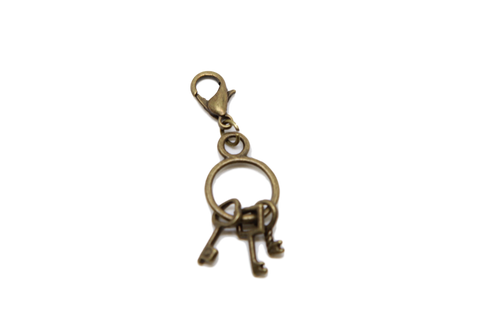 Bronze Key Charm Clip on Bead for Charm Bracelets Charms necklace floating charms - Pendants and Charms