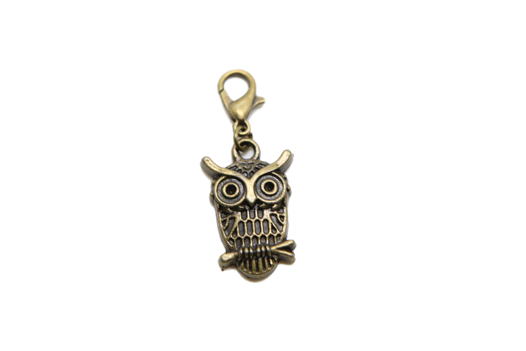 Owl Charm Clip on Bead for Charm Bracelets Charms necklace floating charms - Pendants and Charms