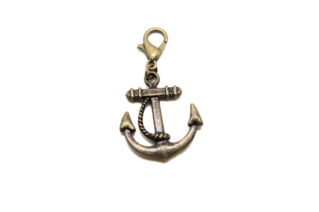 Rudder Bronze Charm Clip on Bead for Charm Bracelets Charms necklace floating charms - Pendants and Charms